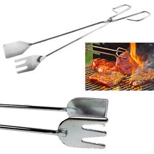 Ponctuel Pinza Barbecue Acciaio 40 55 Cm Forchettone Carne Arrosto Grigliata Pinzetta 764 Excellent Effet De Coussin