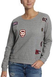 navire haut shirt pour emblème internationale Sweat Varsity gamme femme universitaire à gris Superdry de l'échelle wZgqv
