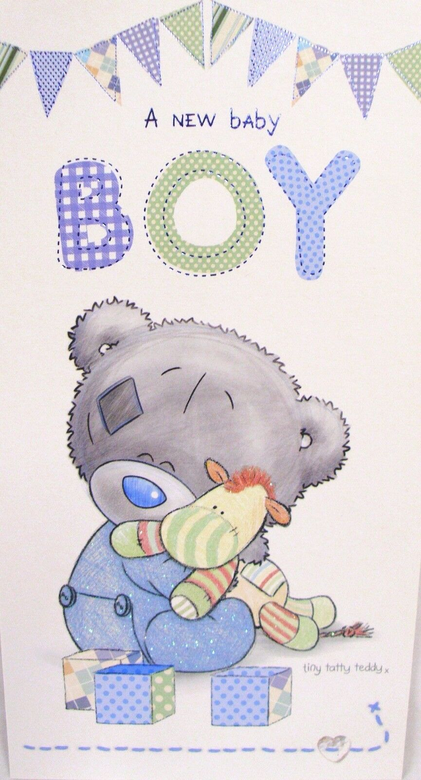 Me to You Tatty Teddy Greeting Card a Baby Boy Size 9 X 5 | eBay