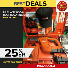 Hilti Wsr 650 A Cordless Reciprocating Saw Preowned Free Extras Fast Ship