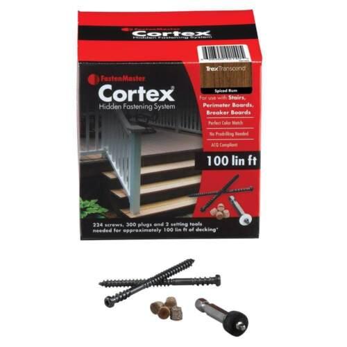 "redwood color Deck fastenersCortex 2-1//2/"" Fastening all Decking 100 Lin Feet"