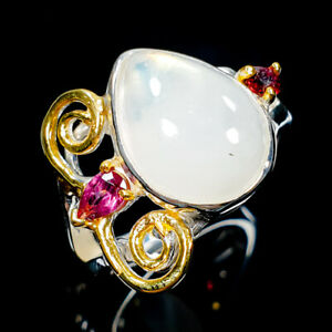 Unique-Jewelry-Natural-Moonstone-925-Sterling-Silver-Ring-Size-8-R103877