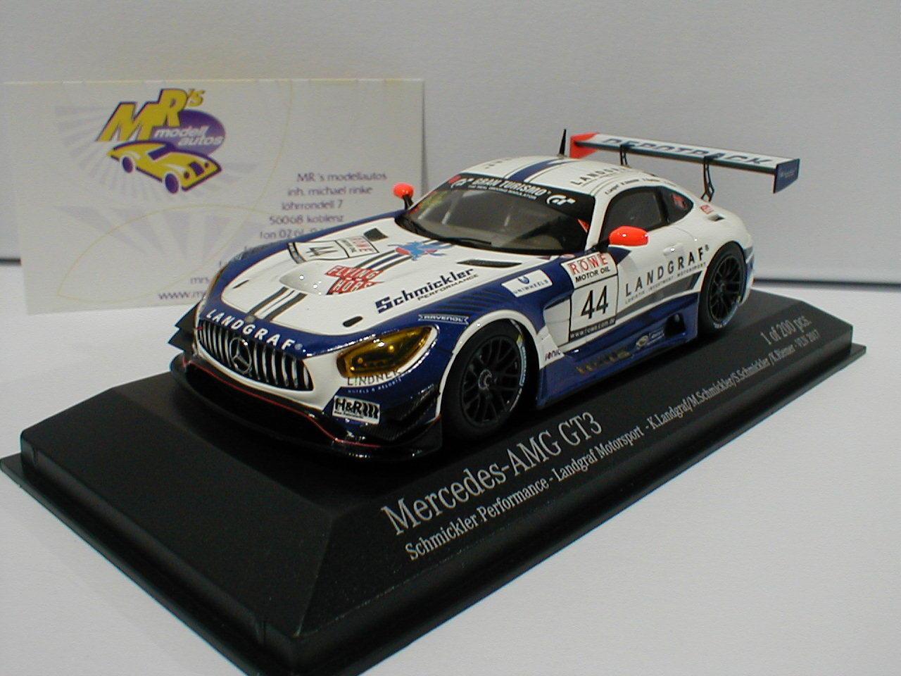 MINICHAMPS 437173044-Mercedes-Benz AMG gt3 No. 44  droife 2017 fibromes-Riemer 1 43  acheter en ligne