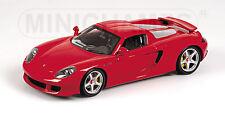 MINICHAMPS 100 062630 PORSCHE CARRERA GT diecast model car red body 2004 1:18th