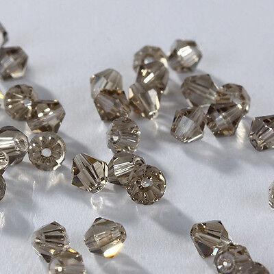 New DIY Jewelry 100pcs 3mm Glass Crystal #5301 Bicone Charm beads U Pick colors