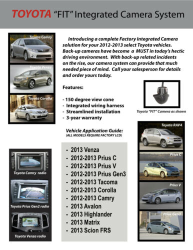 """Toyota Rav-4 and Prius FIT integrated Back Up Camera System MUST HAVE 6.1/"""" LCD"""