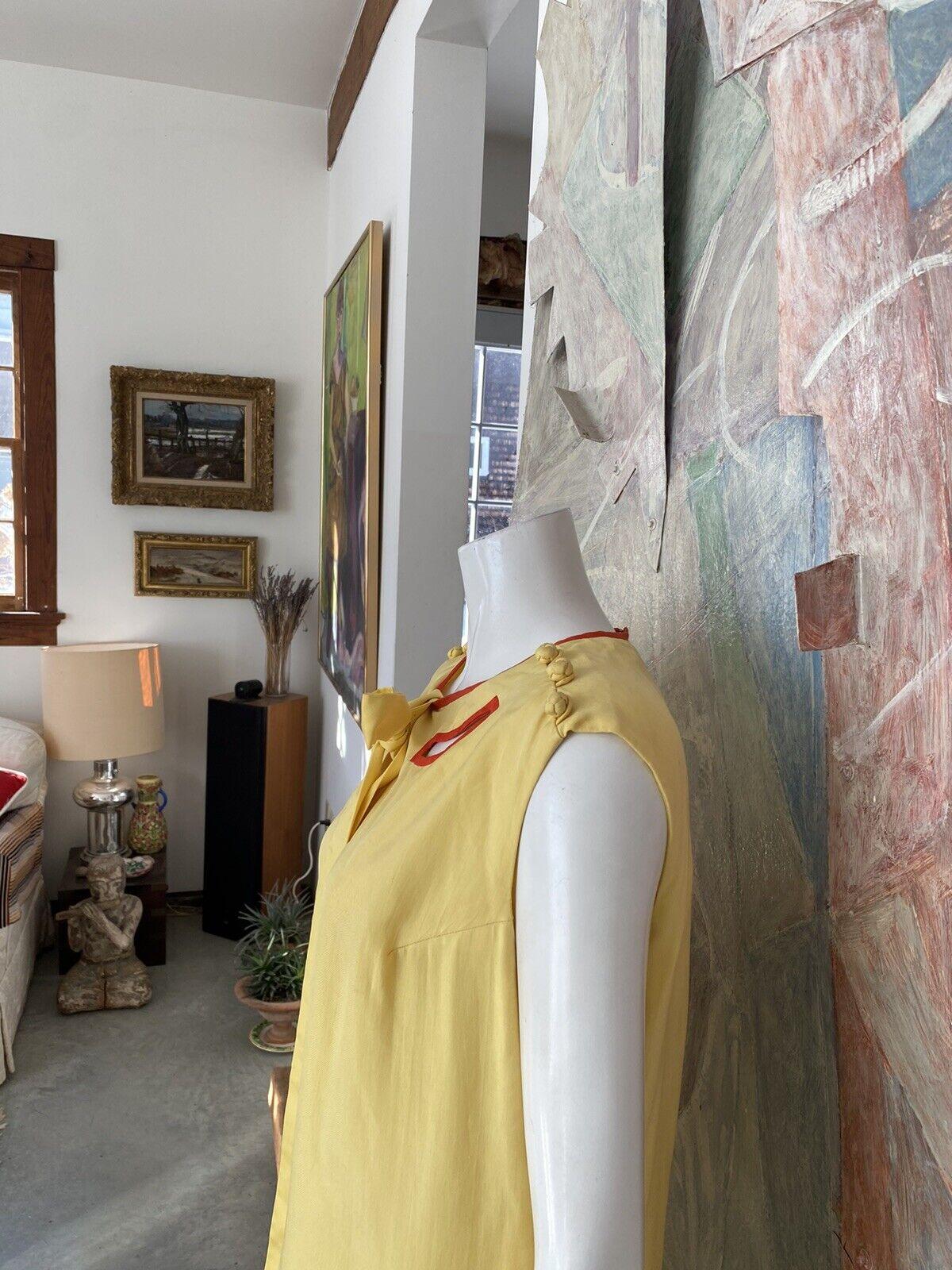 Vintage Alice John Rogers Yellow Silk Pussybow Sh… - image 7