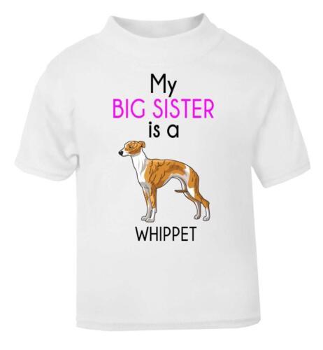 Mia sorella maggiore è un cane da corsa bambino T-shirt//Maglietta Bambino//Baby T-shirt