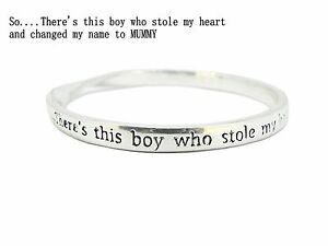 Sterlina-Milano-Sentimental-Meaningful-Message-Bangle-Bracelet-SON-MUM-Gift
