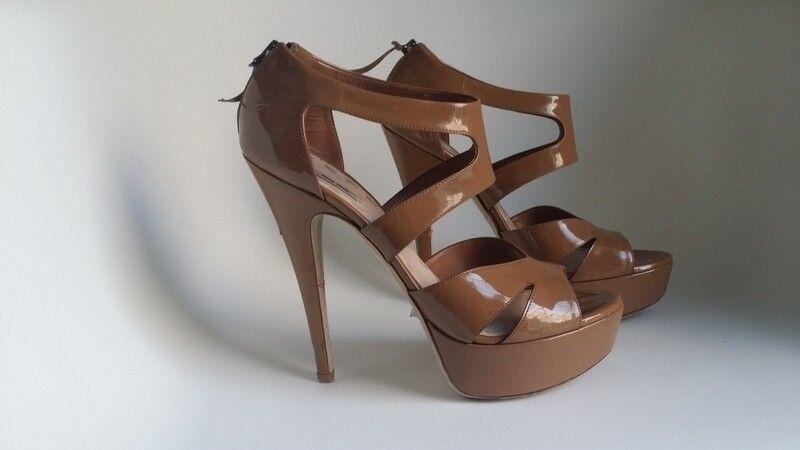 Sandales MIU MIU MIU MIU 39 à plateforme camel vernies  ventas en línea de venta