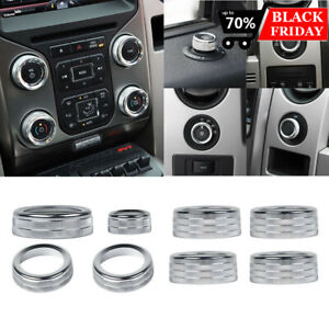 Voodonala for Ford F150 Air Conditioner Switch CD Button Knob for F150 2013 2014 Aluminum Alloy Red
