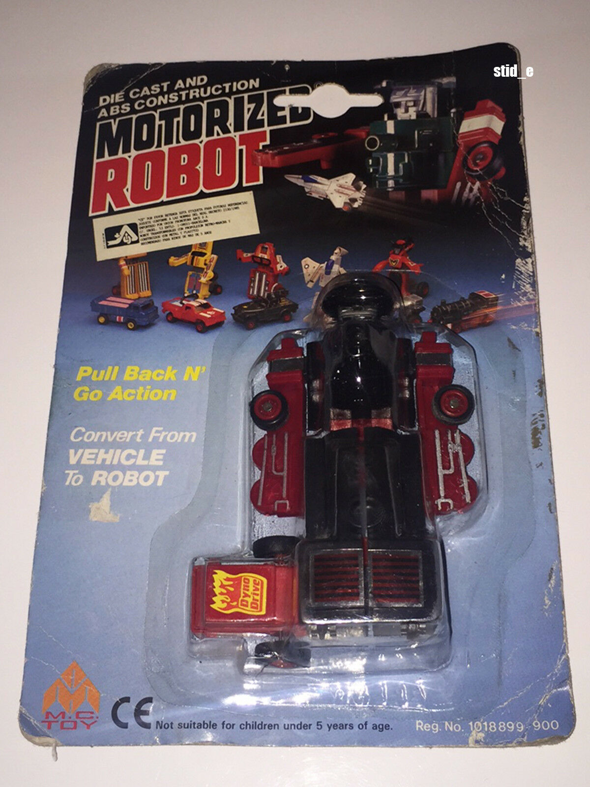 MOTORIZED ROBOT   LOCO TRAIN   MC TOY '80   MOC   DynaBot MotoBot Transformers