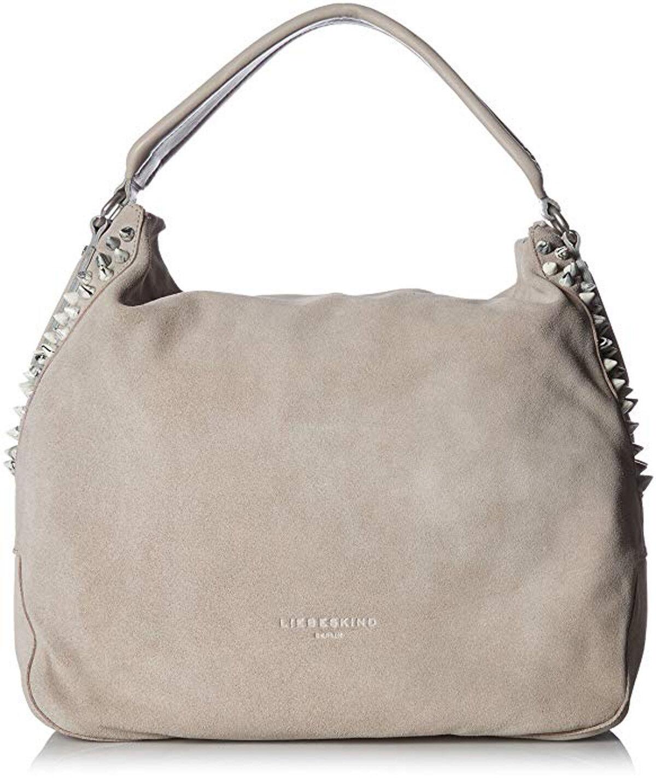 Liebeskind Berlin YOKOHAMA Suede Studded Hobo Handbag Hyena Grey for sale  online  e3c128a8a8a72
