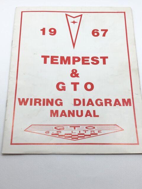1967 Tempest  U0026 Gto Wiring Diagram Manual
