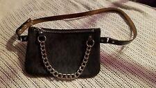 9a5b9c27f334a item 1 Michael Kors MK Logo Belt Bag Fanny Pack Black Silver Chain Size  M(27inch 70cm) -Michael Kors MK Logo Belt Bag Fanny Pack Black Silver Chain  Size ...