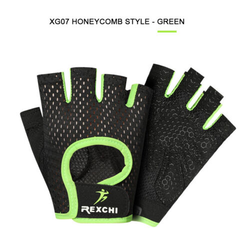 Sports Fitness Half Finger Gloves Gym Workout Training Exercise Weight Lifting