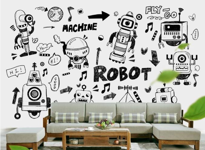 3D Robots Comics 75 Wall Paper Murals Wall Print Wall Wallpaper Mural AU Kyra