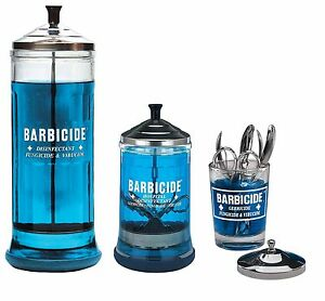 Details about Barbicide Disinfectant Jars Large Medium Small For Hospitals  Salons Barbers