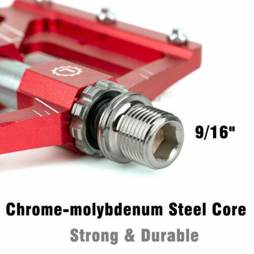 PROMEND Aluminum Alloy Bicycle Pedal MTB Road Bike Flat Pedals 3 Sealed Bearings
