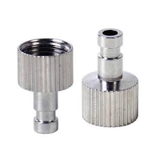 2x-Schnellkupplung-Schlauchverbinder-Adapter-Fit-1-8-Airbrush-Pistolen-Kupplung