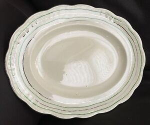 Vintage-1937-Art-Deco-Alfred-Meakin-English-Ironstone-12-034-30cm-Oval-Platter