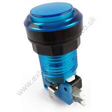 28mm Bombilla LED 5v Redondo T10 Arcade Botón & Microswitch (azul) - Mame, Jamma