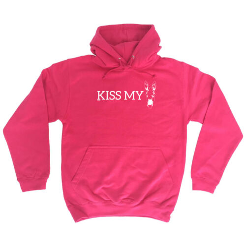 Kiss My Ass Donkey Funny Novelty Hoodie Hoody hooded Top