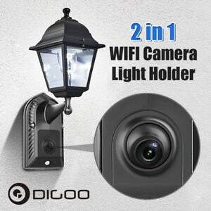 Digoo 1080P Garden Waterproof WiFi Security Camera PIR Sensor Floodlight Holder