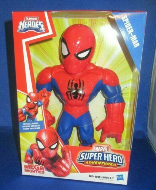 Playskool Heros Mega Mighties SPIDERMAN Posable Action Figure Super Adventures!