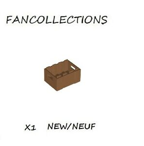 Lego 1x Container coffre box caisse crate nougat medium dark flesh 30150 NEUF