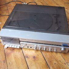 Panasonic SG-V04 Vintage Stereo Record Player Turntable + Radio Cassette Silver