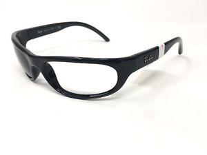 RAY-BAN-PREDATOR-Sunglasses-Frame-Italy-RB4033-601-Black-Polished-Wrap-CU24
