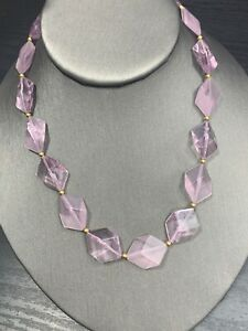 Vintage-bohemian-flat-Beaded-Purple-Opaque-Geometric-colored-necklace-16