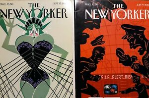 Lot-of-15-THE-NEW-YORKER-Magazines-from-2001-See-description-for-dates