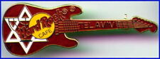 Hard Rock Cafe TEL AVIV 1990s Star of David RED Strat Guitar PIN - HRC #9669