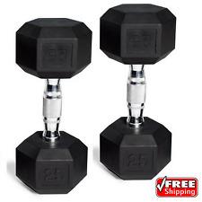 CAP Barbell Rubber-Coated Hex Dumbbells Set Of 2 45 Lb Pair (90 Lbs Total)