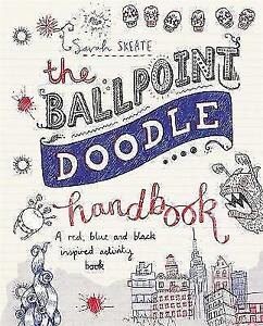The-Ballpoint-Doodle-Handbook-A-red-blue-and-black-inspired-activity-book