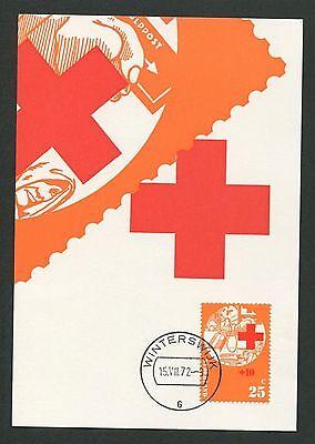 2019 Latest Design Niederlande Mk 1972 Rotes Kreuz Red Cross Maximumkarte Maximum Card Mc Cm D5745 For Improving Blood Circulation Organizations Stamps