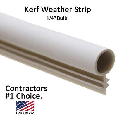 """White,Tan,Brown,Black 1//4/"""" Window Kerf Slot Sash Weatherstrip Seal Bulb Bubble"""