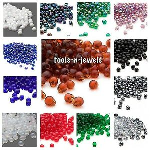 4x3.4mm 10 Grams Teardrop Clear Red Glass Fringe Beads