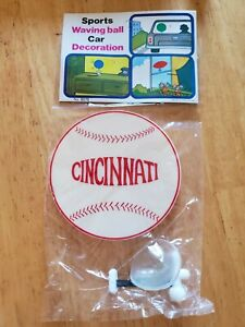 New-1960-039-s-Cincinnati-Reds-Baseball-Waving-Ball-Decoration-MLB-Big-Red-Machine
