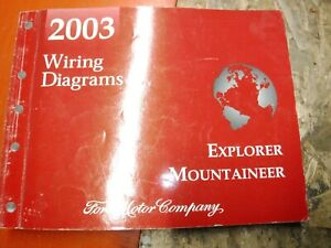 2003 Ford Explorer Mercury Mountaineer Factory Wiring Diagrams Manual Service Ebay