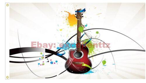 Music PoP Metal DJ Sheet Guitar Headphones Violin Piano Gift Flag Size 3x5FT