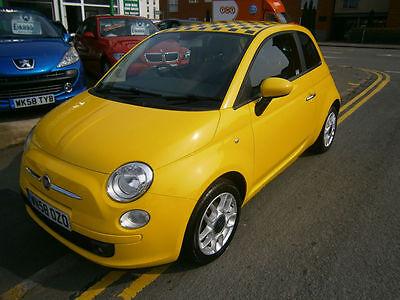 Fiat 500 1.4 SPORT,Yellow, Baseball Leather Seats, Full History