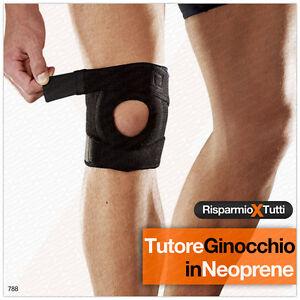 ginocchiera ortopedica  TUTORE GINOCCHIO ORTOPEDICA REGOLABILE FASCIA GINOCCHIERA PALESTRA ...