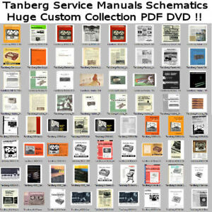 Details about Tanberg Service Manuals Schematics, Custom PDF DVD Collection  PDF DVD **NICE**