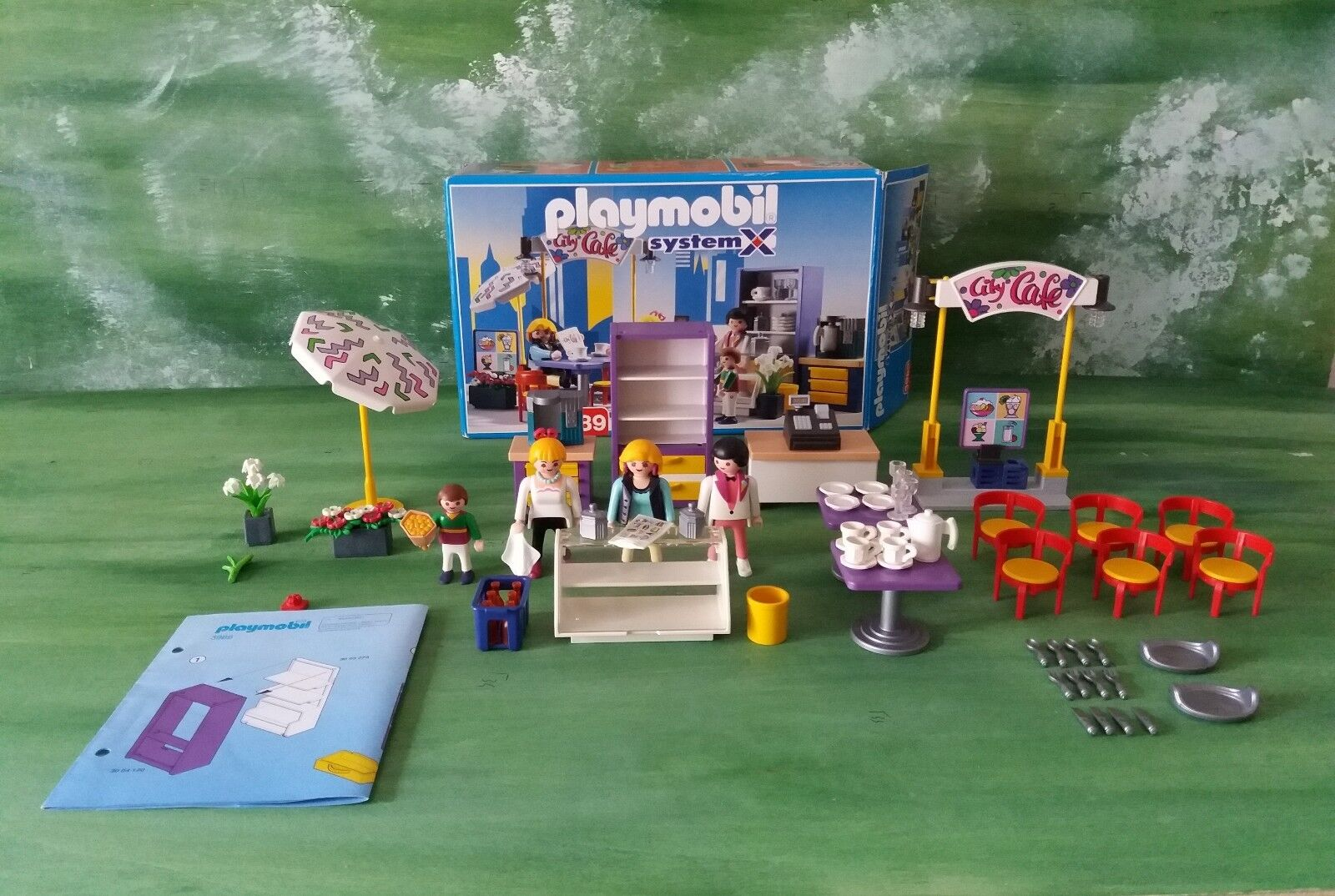 Playmobil set 3989 Cafe - caffetteria bar System X Made in Germany Vintage