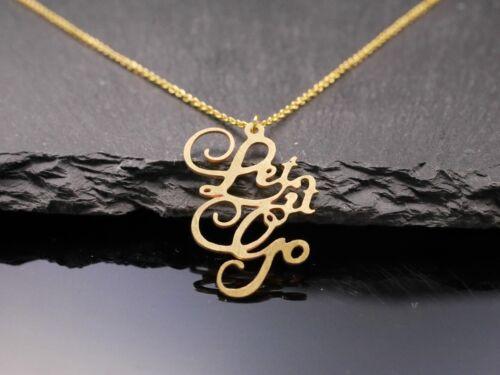 Frozen gold Halskette mit Schriftzug Let it go Buchstaben