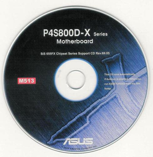ASUS P4S800D P4S800D-X P4S800D-E DELX  Motherboard Drivers Install  M513