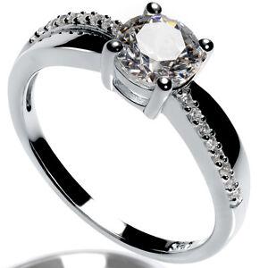 Verlobungsring 925 Silber 1 4 Karat Silber Ring Mit Swarovski